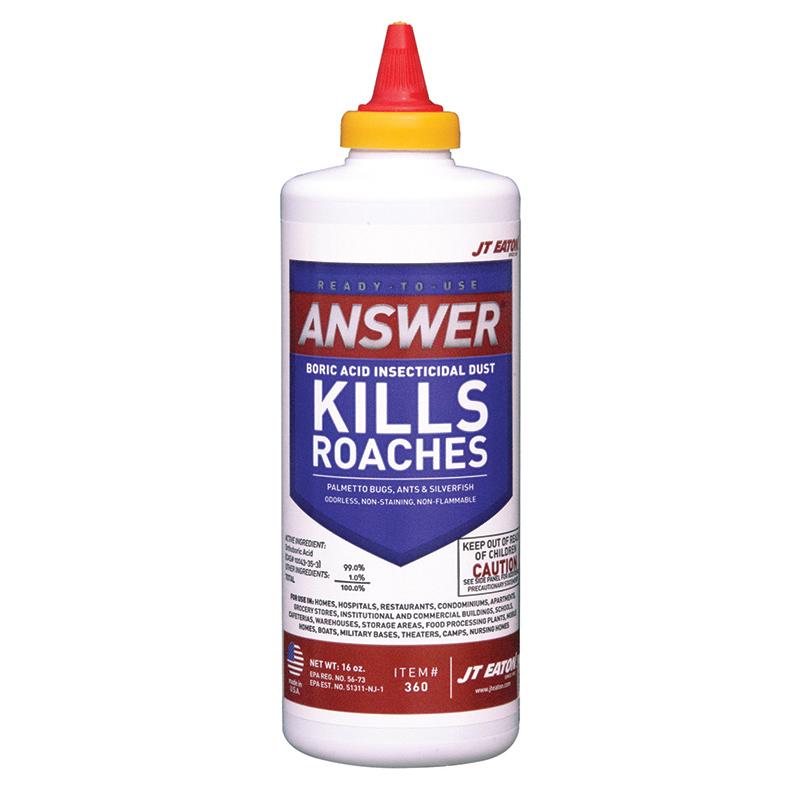 Answer 174 Boric Acid Insecticidal Dust 16 Oz J T Eaton